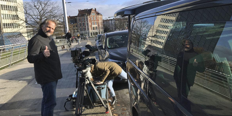 Making-of-Bild Video-Dreh Showreel Karl-Heinz Biegler mit Best Company Video und Fotograf Daniel Möller aus Hannover