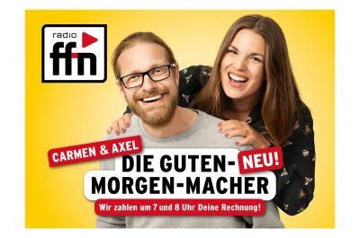 Werbeaufnahmen Guten-Morgen-Macher mit Carmen Wilkerling und Axel Einemann von Radio ffn von Daniel Möller Fotograf aus Hannover