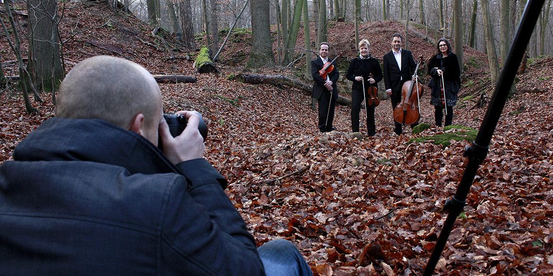 Making-of-Bild Künstlerportraits Barbara Höfling und das Helian Quartett Daniel Möller Fotografie Hannover