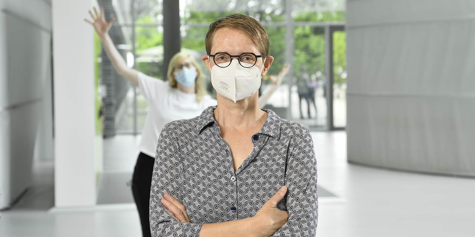Making-of-Bild Businessportraits VHV Allegemeine Versicherung AG mit Fotograf mit Daniel Möller aus Hannover