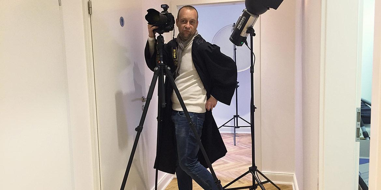 Making-of-Bild Imageaufnahmen Businessportraits Rechtsanwalt Dirk Lahmsen Fotograf Daniel Möller Hannover