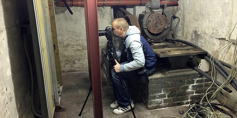 Making-of-Bild Aufnahmen historische Details Werkof Hannover Fotograf Daniel Möller Hannover