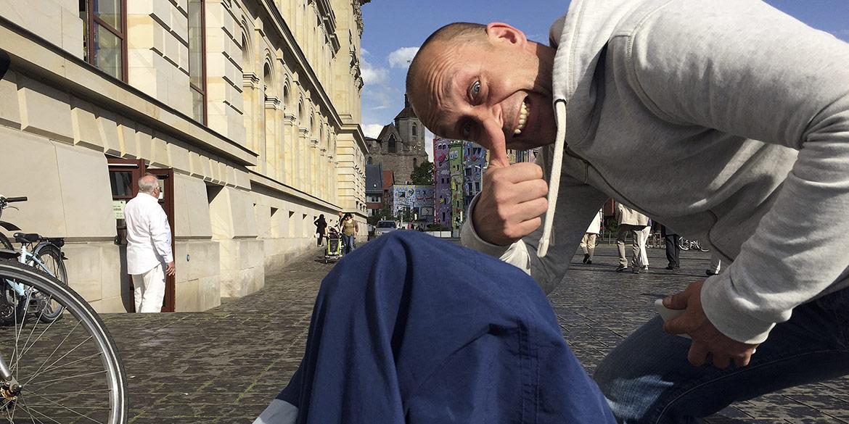 Making-of-Bild Anzeigenmotiv Braunschweig bittet zu Tisch mit Fotograf Daniel Möller Hannover