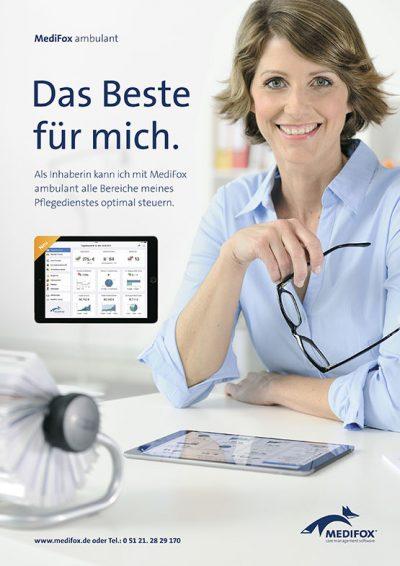 Anzeigenmotive MediFox GmbH Fotograf Daniel Möller Hannover