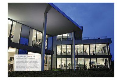 Layout mit Imageaufnahmen Gesamtprospekt der MediFox GmbH von Fotograf Daniel Möller Hannover