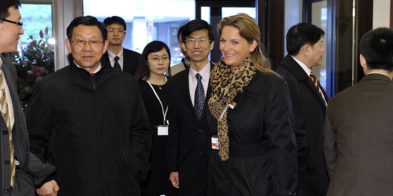 Making-of-Bild Reportageaufnahme Besuch Wen Jiabao Kastens Hotel Luisenhof Hannover