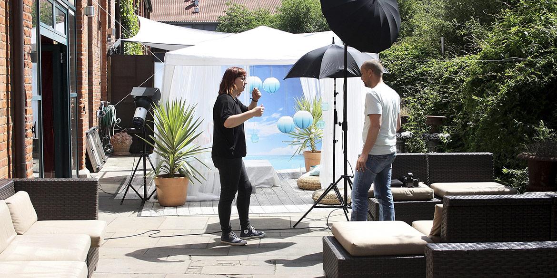 """Making-of-Bild Wohltätigkeitsveranstaltung """"SummerOpening 2014"""" ESP.ONE-Stiftung Fotograf Daniel Möller Hannover"""