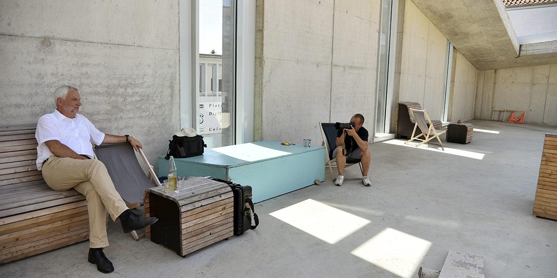 Making-of-Bild Imageaufnahmen und Portraits Enertrag mit Fotograf Daniel Möller im hafven Hannover