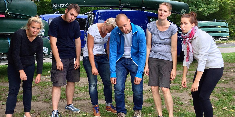 Making-of-Bild Paddeln auf Leine und Ihme Betriebsausflug 2014 Daniel Möller Fotografie Mona Binner Photographie