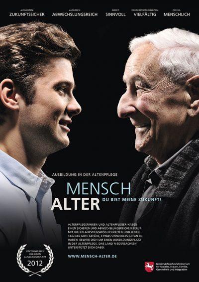 """Plakat Werbekampagne """"Mensch Alter - Du bist meine Zukunft"""" von Fotograf Daniel Möller Hannover"""