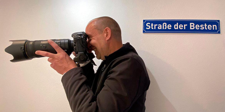 Making-of-Bild Imageaufnahmen Ihre Pflege Sachsen GmbH in Dresden Fotograf mit Daniel Möller Hannover