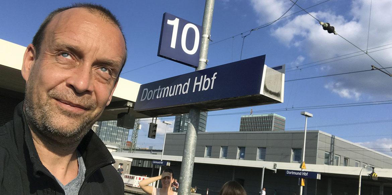 Making-of-Bild Imageaufnahmen für Sennheiser in der Westfalenhalle Dortmund mit Fotograf Daniel Möller aus Hannover