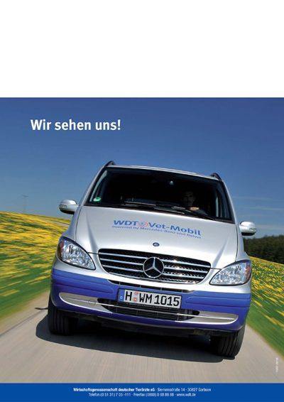 Werbeaufnahmen Vet-Mobil Wirtschaftsgenossenschaft deutscher Tierärzte Daniel Möller Fotograf Hannover