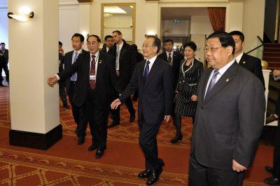 Reportageaufnahme Besuch Wen Jiabao in Kastens Hotel Luisenhof Hannover
