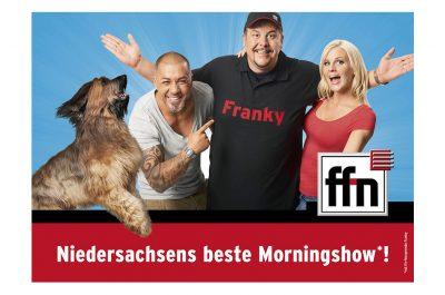 Werbeaufnahmen Morningshow mit Morgenmän Franky, Lea Rosenboom, Mike Leon Grosch und Bizkit Radio von ffn von Daniel Möller Fotograf aus Hannover