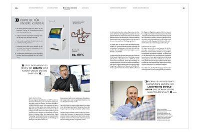 Layout mit Imageaufnahmen LPKF Laser & Electronics AG Fotograf Daniel Möller aus Hannover