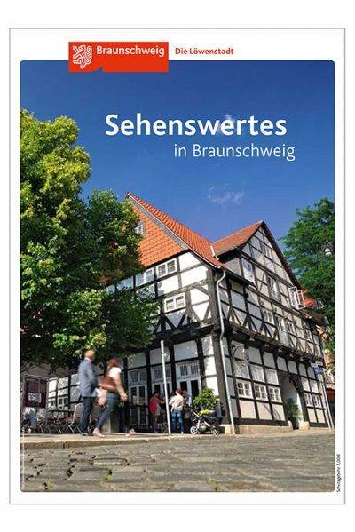 Titel Broschüre Sehenswertes in Braunschweig mit Aufnahme von Fotograf Daniel Möller aus Hannover